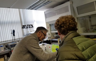 image of two men in a laboratory