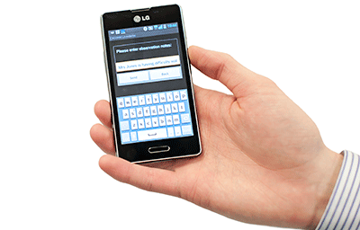 The ARMED app on a mobile in man's hand