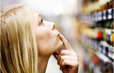 Women in the supermarket - image