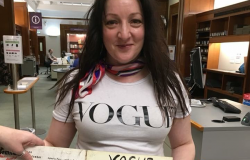 Caroline Parkinson at the National Library of Scotland